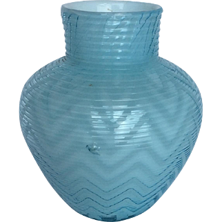 Exquisite Webb Victorian MOP Art Glass Vase
