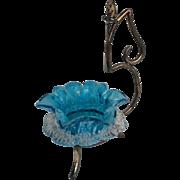Victorian Art Glass Salt Silverplate Castor