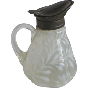 Victorian Opalescent Daisy and Fern Syrup Pitcher