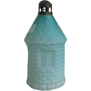 Victorian Satin Glass Fairy Lamp Lighthouse