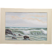 George Howell GAY noted American watercolorist 1858-1931 ~ marine painting