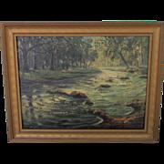Walter KOENIGER listed WOODSTOCK artist oil of Tannery Brook