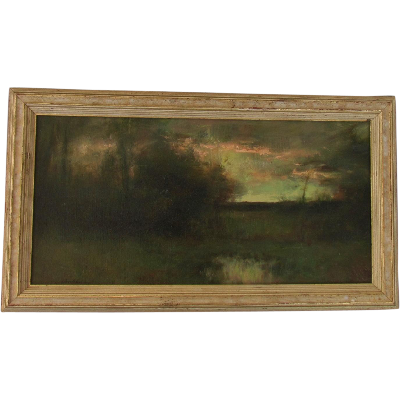Dennis Sheehan     Fine impressionist oil on canvas by the well listed Boston painter ~ salmon sky