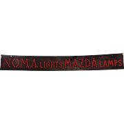 Early MAZDA NOMA metal sign with glass marbles buttons RARE MUST SEE !! 1920's