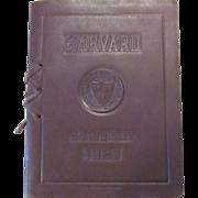 Leather Bound 1927 Harvard Class Day Program