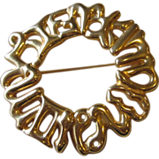 FENDI- signed vintage brooch
