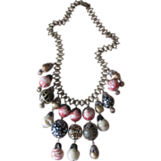 Vintage Book Chain Bauble Necklace- Fabulous