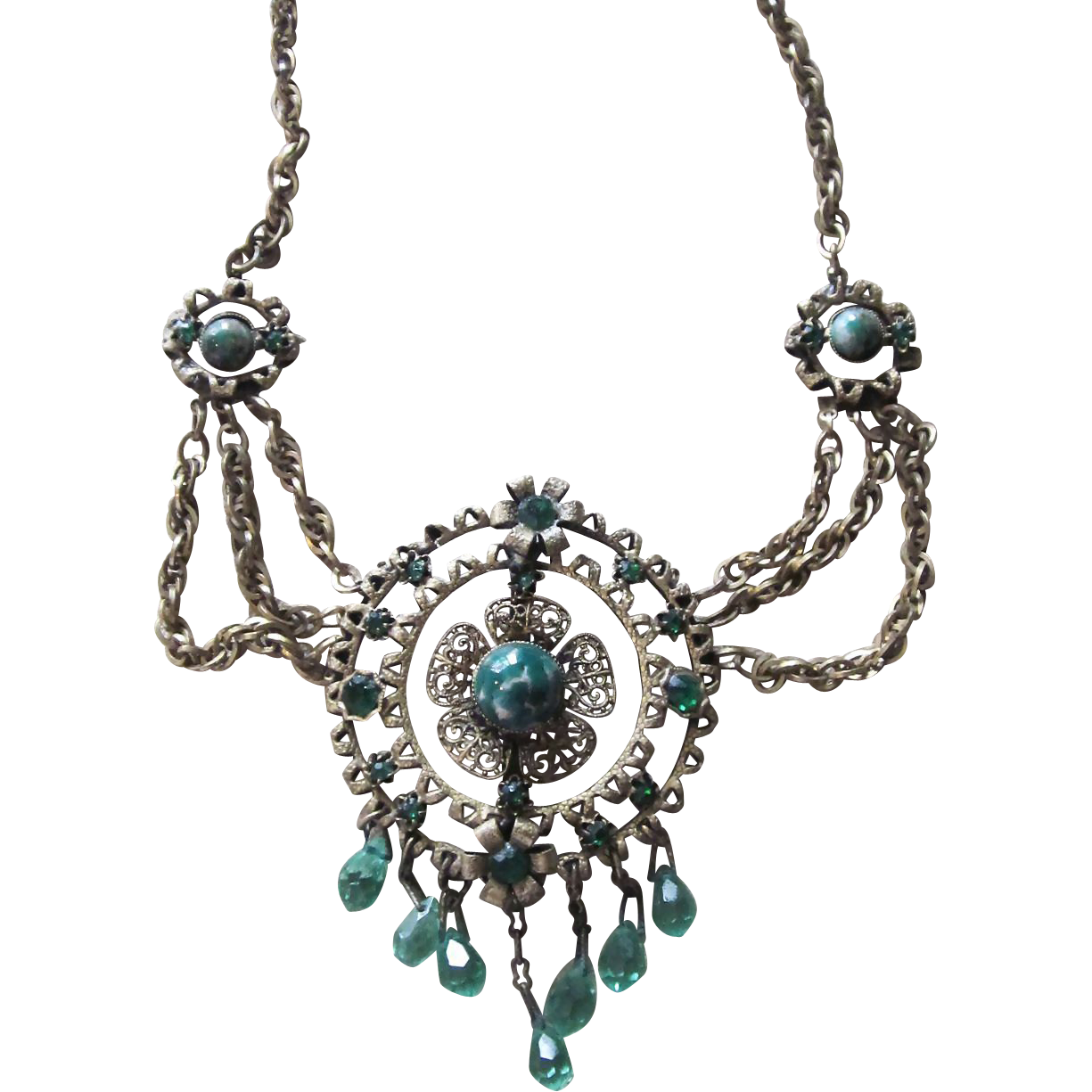 Fabulous Art Nouveau Swag Necklace