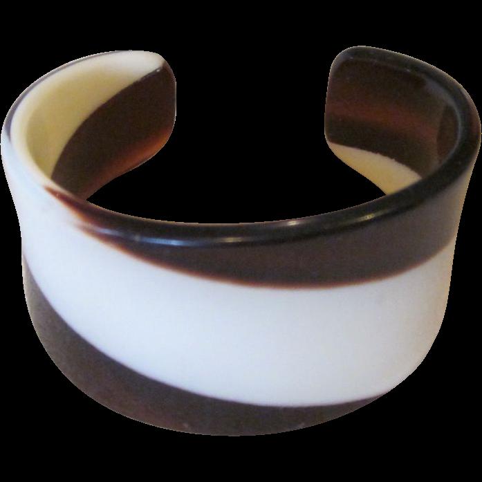 Lea Stein, French Cuff Bracelet