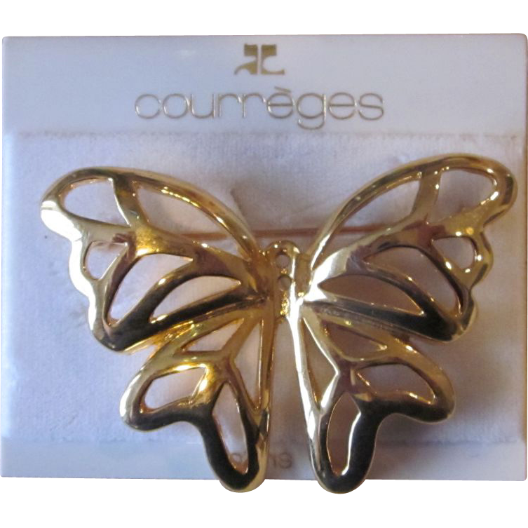 Courreges Couture Signed Vintage Brooch