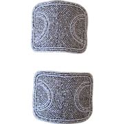 Monumental Victorian French Steel Bead Shoe Buckles