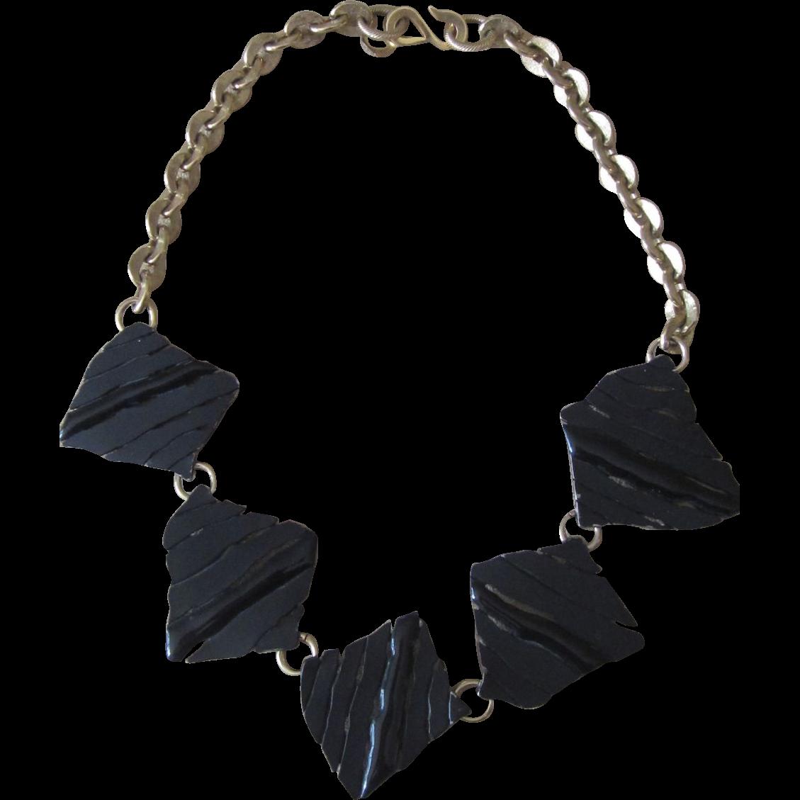 ANNE KLEIN- Vintage Runway Modernist Necklace