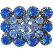 AUSTRIA- signed vintage beautiful brooch in blues