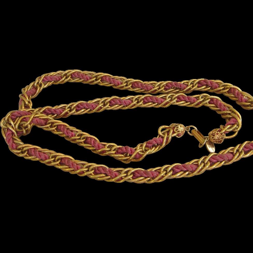 Anne Klein- Vintage designer sautoir necklace