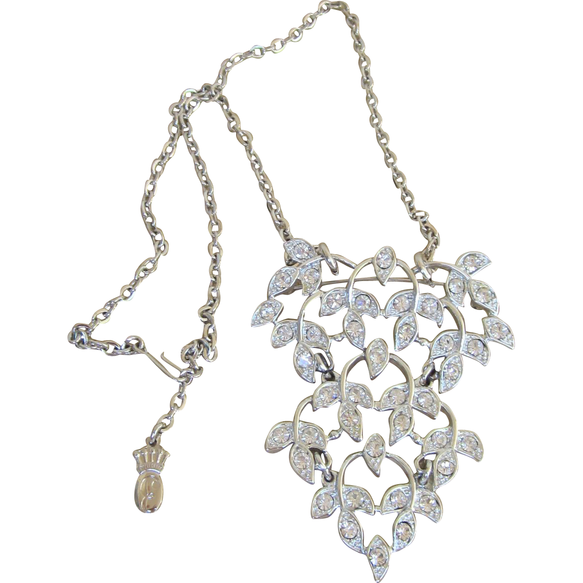 EMMONS-Convertible signed necklace and brooch