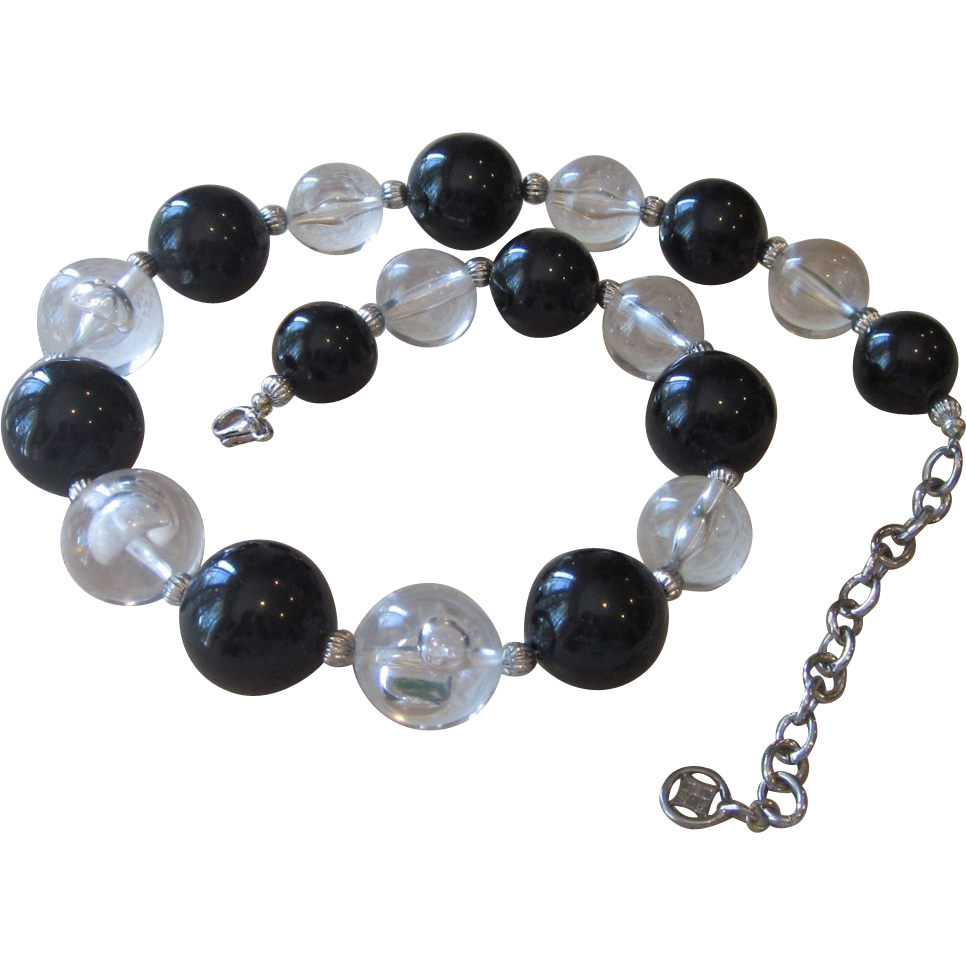 GIVENCHY- Large Gumball Vintage Lucite Runway  Necklace