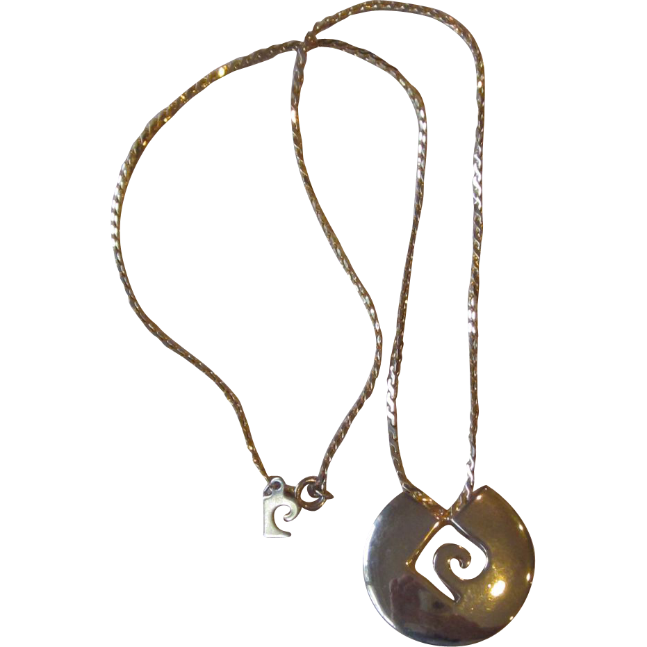 Pierre cardin logo gold tone necklace from runwayvintage for Best place to sell gold jewelry in chicago