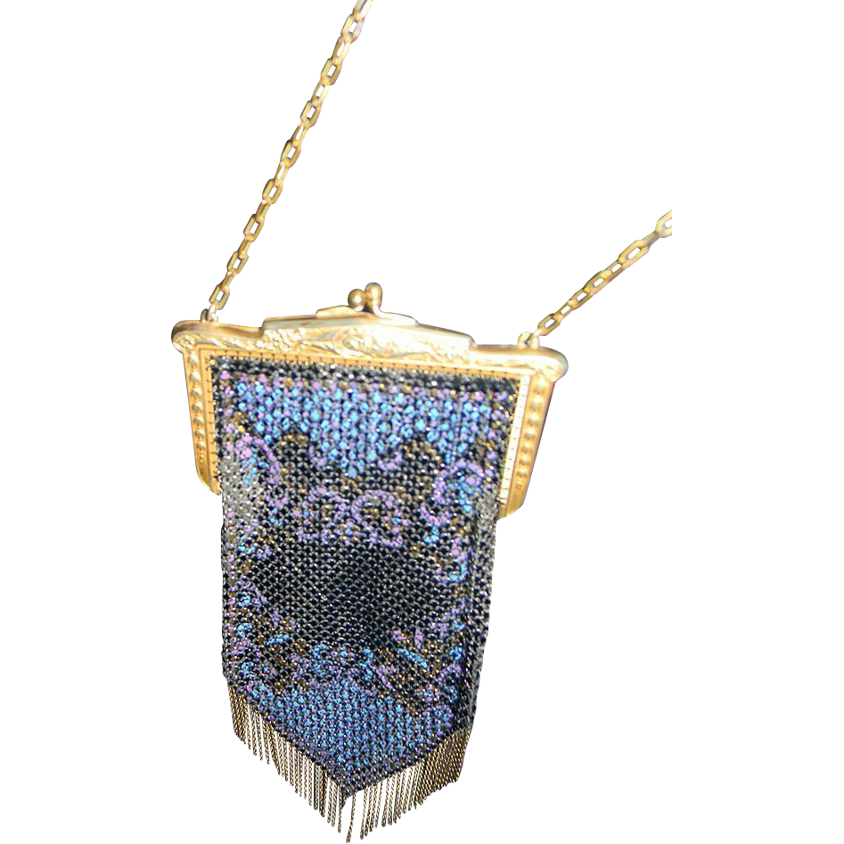 Mandalian Vintage Flapper Beaded Handbag
