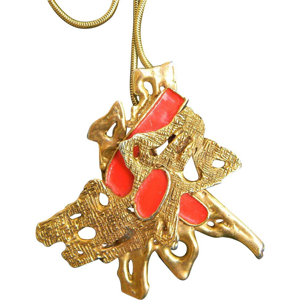 Erwin pearl molten gold runway pendant necklace from for Best place to sell gold jewelry in chicago