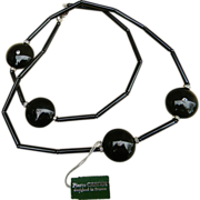 PIERRE CARDIN-  Haute Couture vintage runway necklace