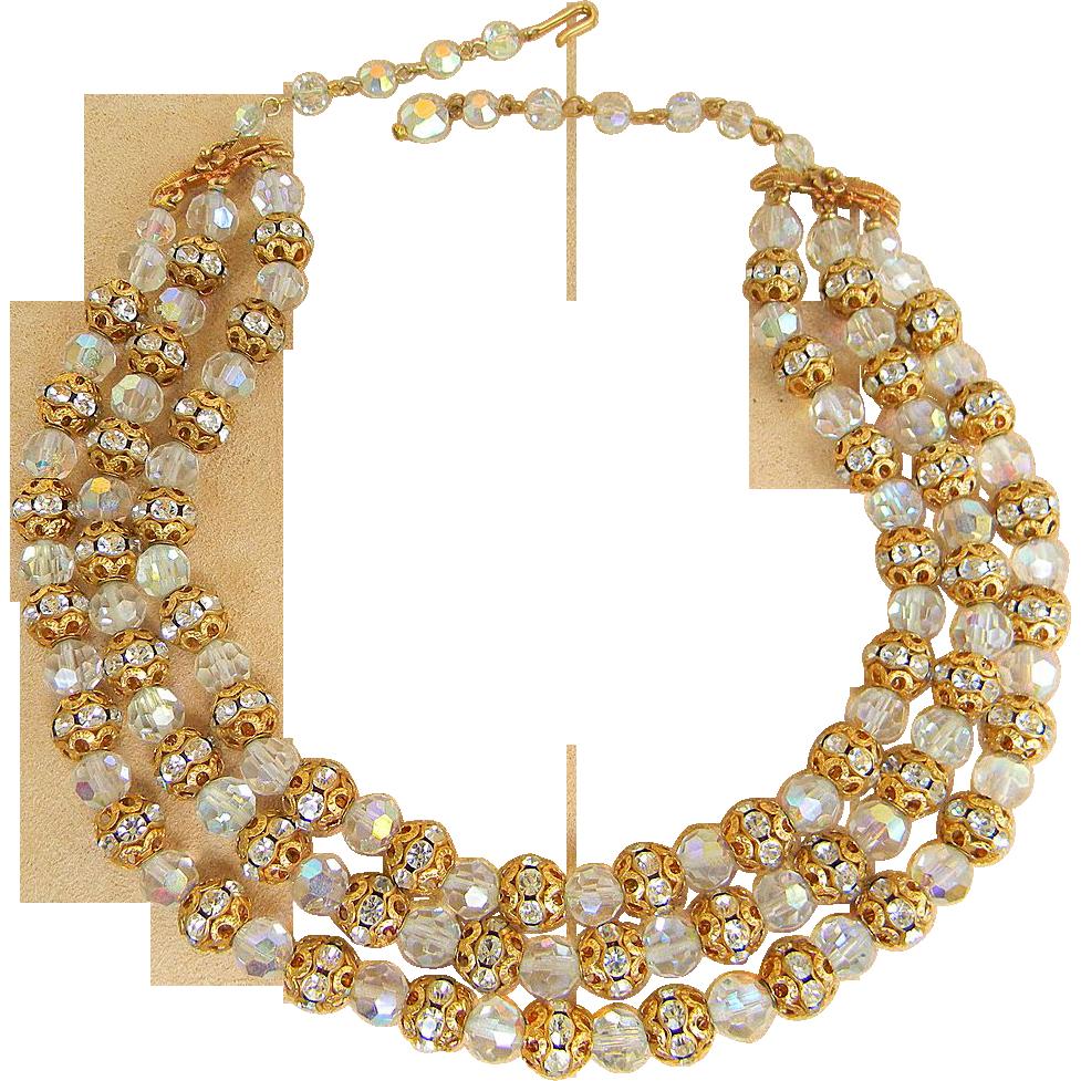 Runway Vintage Rondelle Necklace