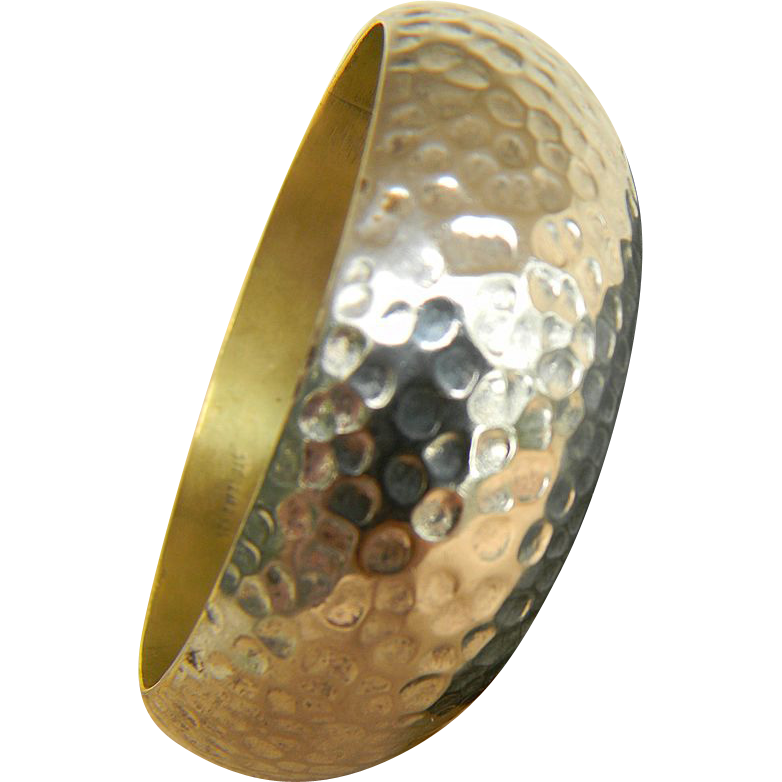 Vintage Sterling Hammered Bangle