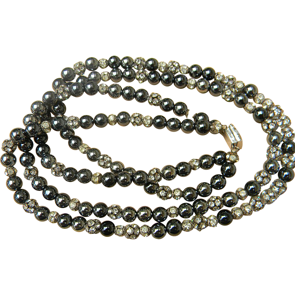Tons of Rondelles  vintage beaded necklace