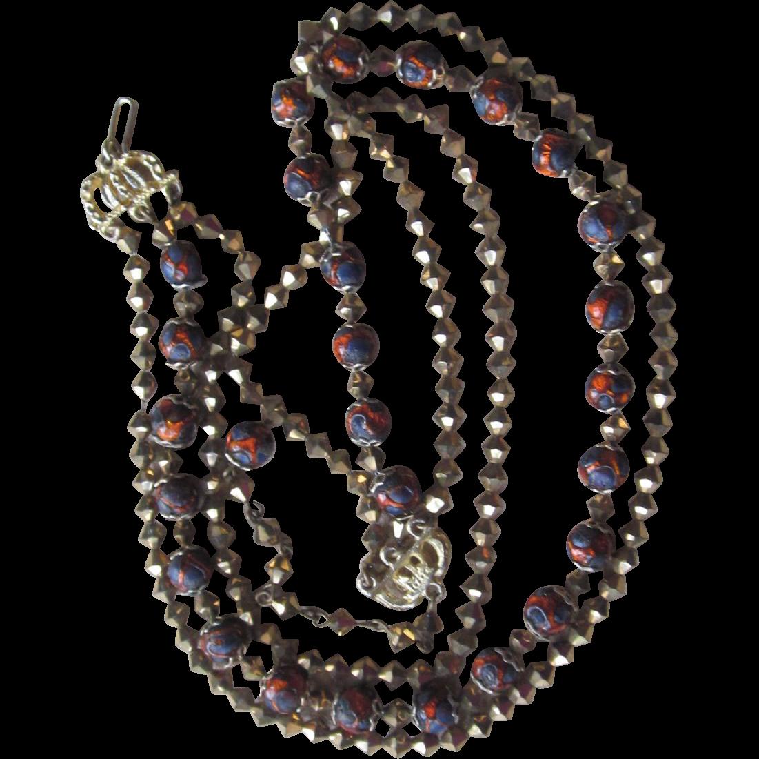 HOBE- unusual signed vintage necklace