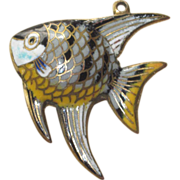 Enamel Fish- Very Unique Larger Size