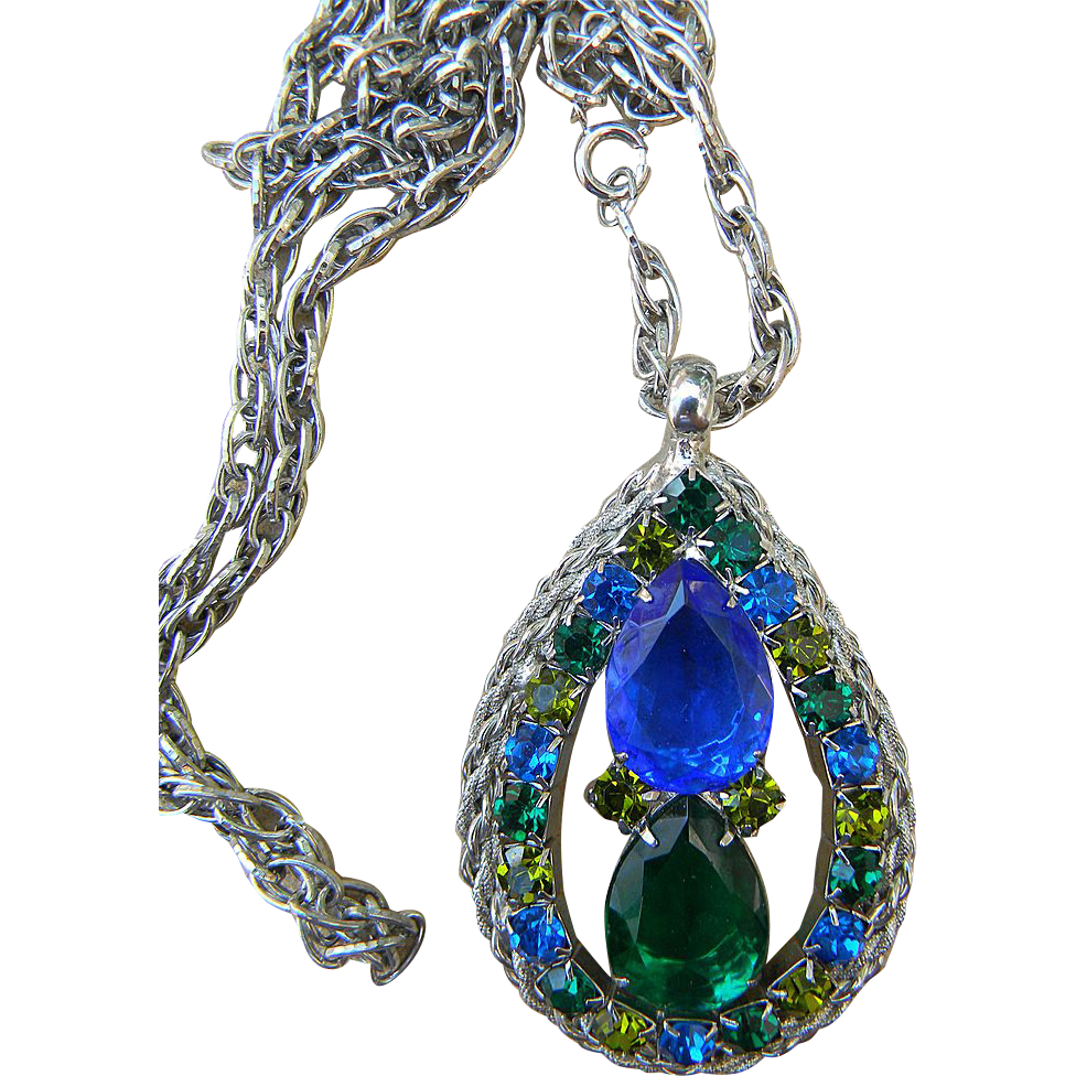 Super huge rhinestone pendant