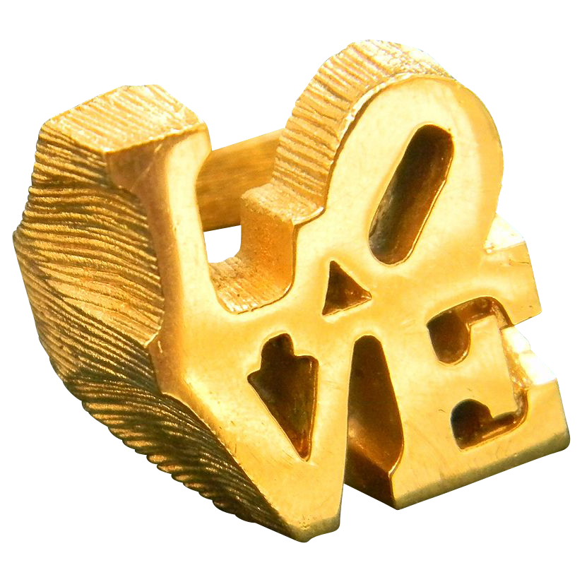 Iconic Robert Indiana LOVE ring