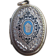 Stunning Victorian Locket with Enamel