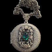 Large Locket Vintage Necklace