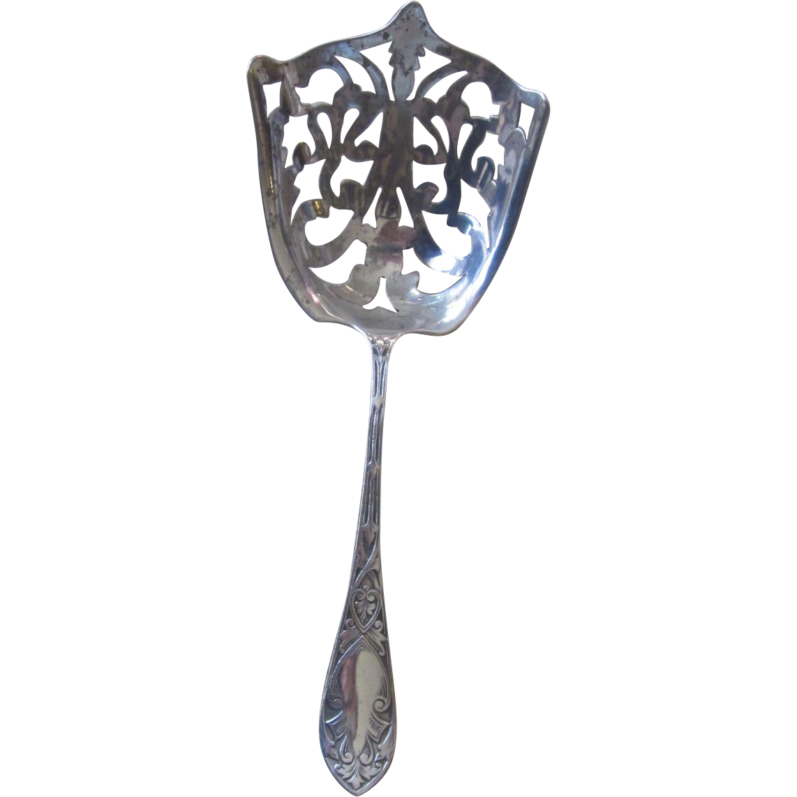 Sterling Stamped Bon Bon Ornate Spoon