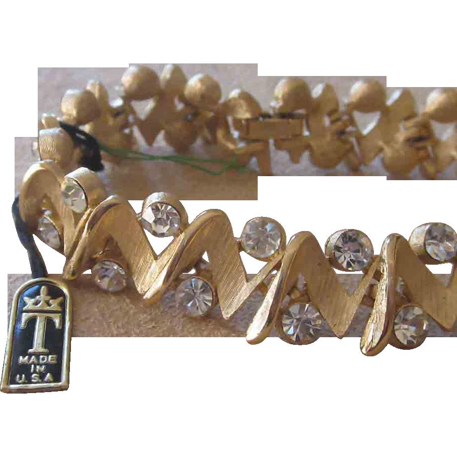 Trifari- Original Tag on Rhinestone Bracelet