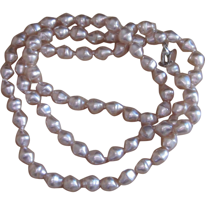 Anne Klein Vintage Faux Pearl Necklace- 33 inches