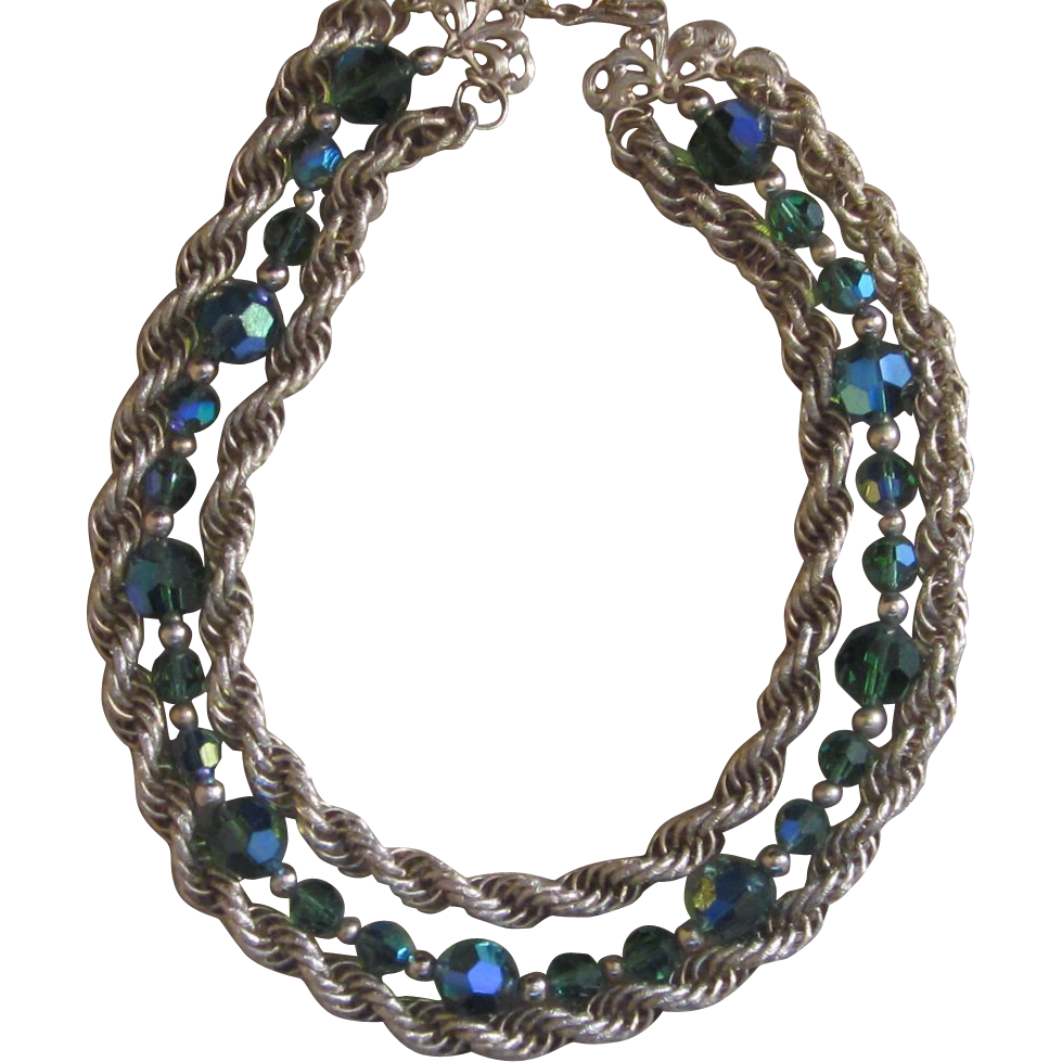 Napier- Three Stand Vintage Necklace