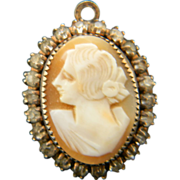 Signed sterling Cameo