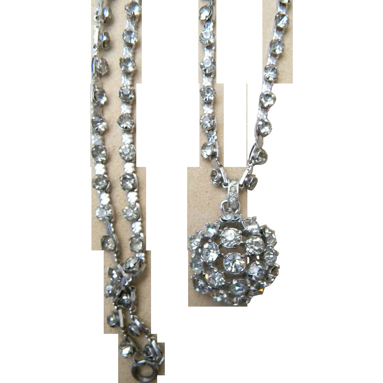 EISENBERG- signed sterling pendant necklace