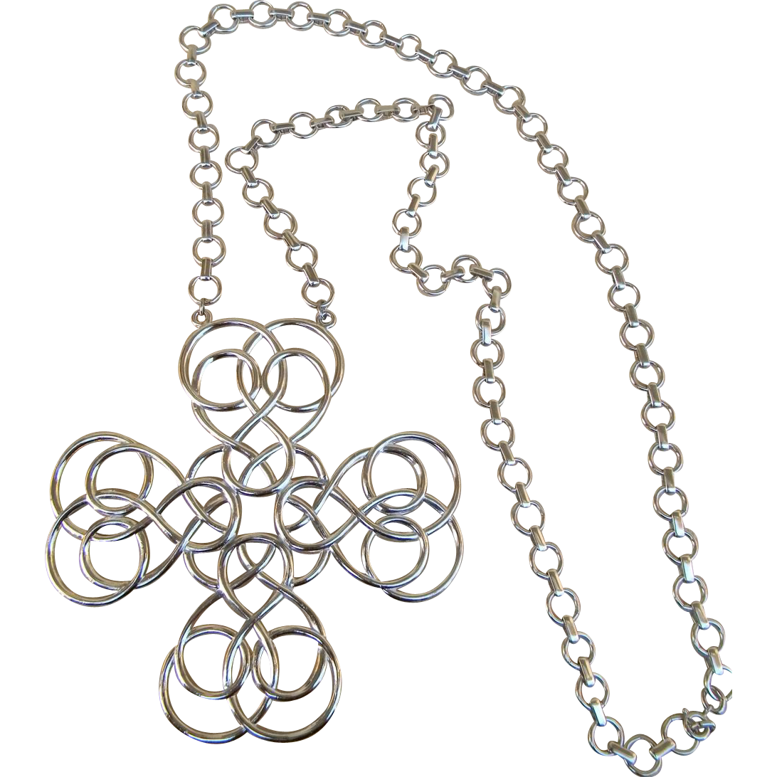 Huge Signed NAPIER Vintage  Runway Necklace