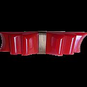 Famous Ribbon Bakelite Brooch