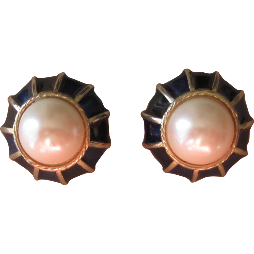 Gay Boyer- Vintage signed earrings