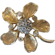 Nettie Rosenstein- Trembler Flower Brooch