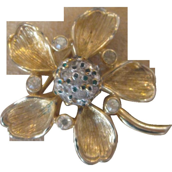 Nettie Rosenstein- Trembler Flower Brooch