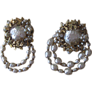 Haskell- Stunning 2 Brooches Older Vintage with Amazing Work