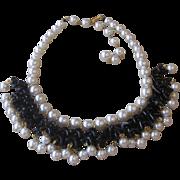 Hobe- Signed Vintage Dangle  Runway Necklace