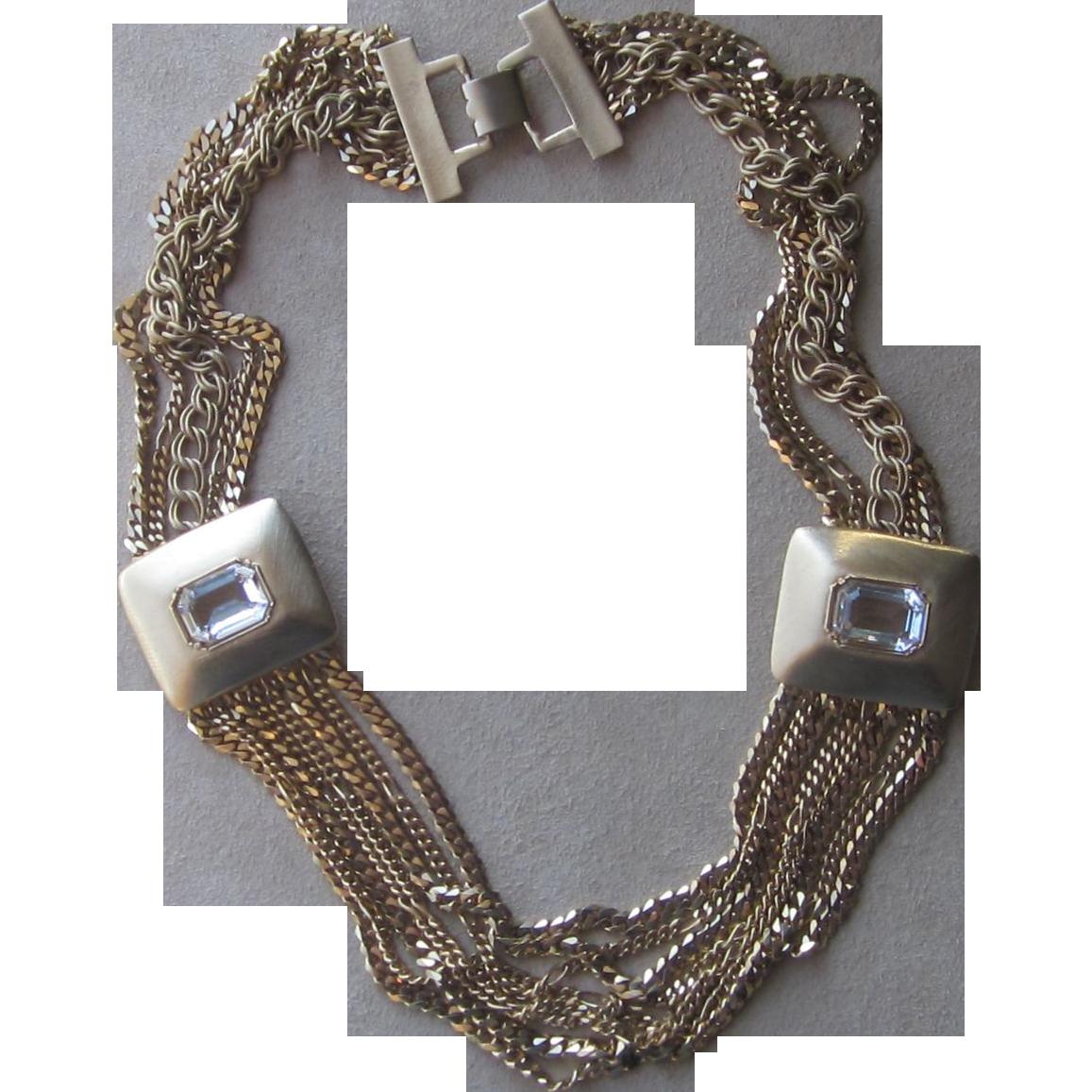 Debra Yohai- Vintage Runway Designer Couture Necklace