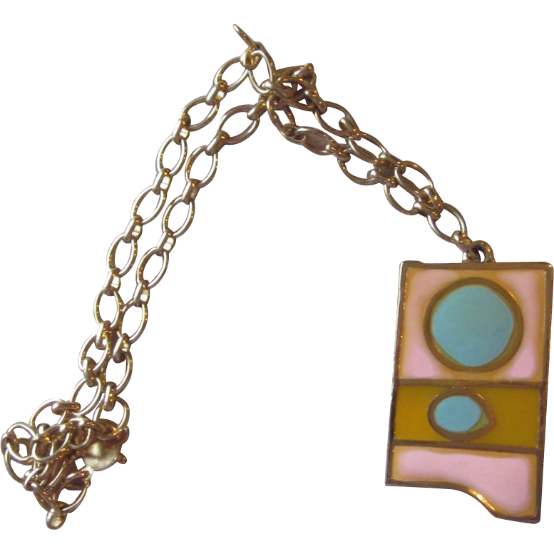Accessocraft- Vintage Pastel Pendant Necklace