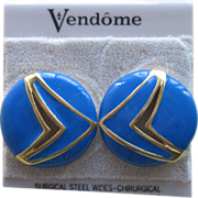 Vendome- Old Stock Vintage Pierced Earrings