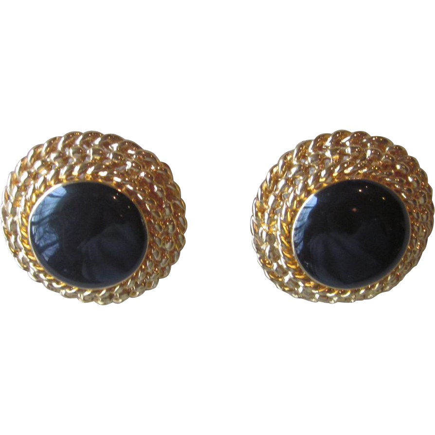 St. John- Elegant Vintage and Signed Earrings